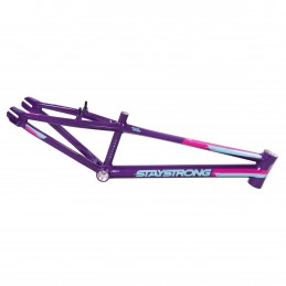 Cadre Stay Strong For Life V3 - Purple / Teal / Pink Bmx Race