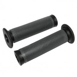 Poignee Bmx Herrmans Noire Avec Collerette Super Confort L140 Mm (Paire)