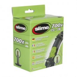 Chambre A Air Vélo 700x25-28 Slime Valve Standard Avec Liquide Anti-Crevaison Bmx Race