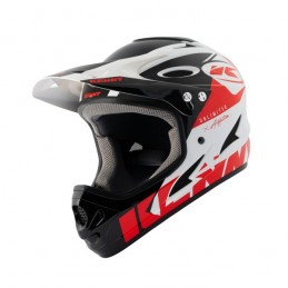 Casque Downhill White Red Bmx Race