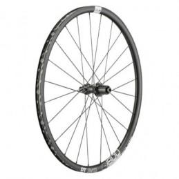 Roue Route 700 Dt Swiss G1800-25 Gravel Spline Disc Clock Axe 12-142mm Arr Noir (Hauteur Jt 25mm) Adapt. Bloc. 9-135 Bmx Race