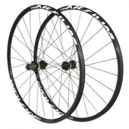 Roues Route 700 Mavic Aksium Disc Centerlock Noir 11V. Compatible 10 vitesses Shimano (Avant + Arriere) Blocage Rapide Bmx Race
