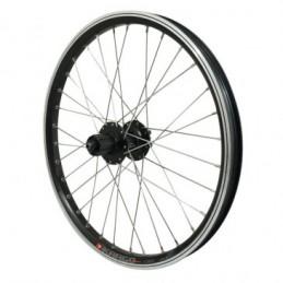 "Roue Vtt 20"" Arr. Kargo Disc VAE E-Bike Alu Noire Dbl Paroi Moyeu Shimano M475 Disc 6 Trous cass. 10-9-8 vit. renforce R. Inox B"