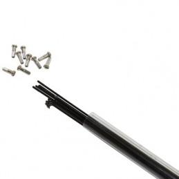 Rayon Inox Noir 2mm Avec Ecrou - Tube de 10 longueur au choix