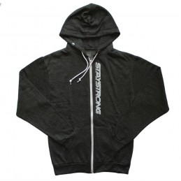 Sweat Stay Strong Faster Zip Heather Black Bmx Race