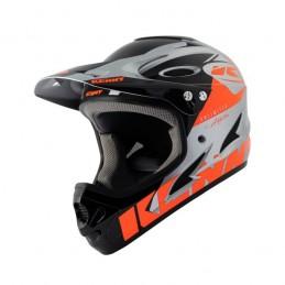 Casque Kenny Downhill Neon Orange Sylver Bmx Race