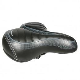 Selle Xinda City New Century Noir Maxi Confort Dessus Thermo-Forme 250X210Mm Rail Acier